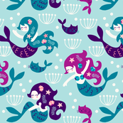 Mermaids in purple