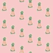 Pineapples on Rose Quartz, Diagonal Drop