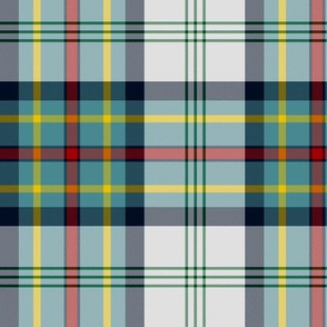 Gillies dress blue tartan