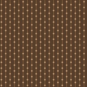 stripes with dots beige and brown