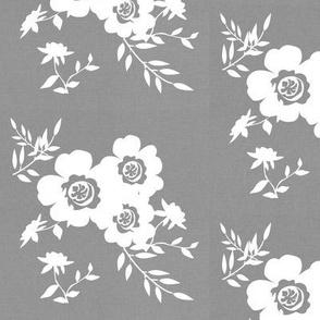 Grey Linen Floral