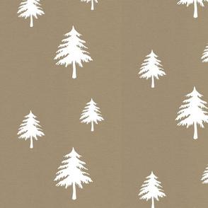 Trees on Tan Linen