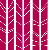 Magenta tree branch herringbone