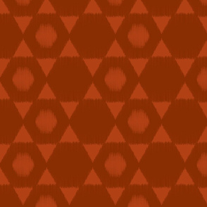 Hexagon Ikat in Rust