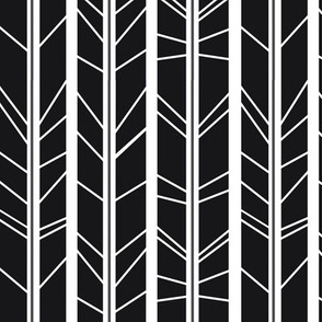 Dark Charcoal tree branch herringbone