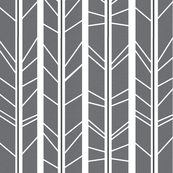 Grey Tree branch herringbone