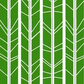 Kelly Green Tree Branch Herringbone