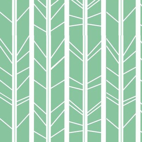 Mint tree branch herringbone