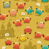 crabs in the sandcastles