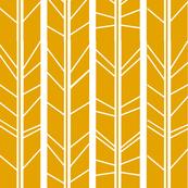 mustard yellow tree branch herringbone