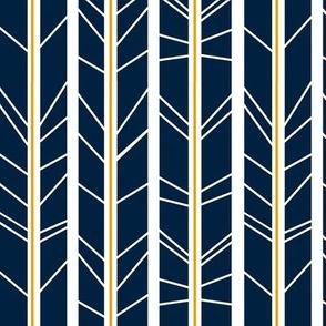 navy mustard tree branch herringbone