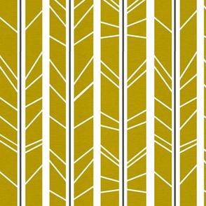 Dark Mustard tree branch herringbone