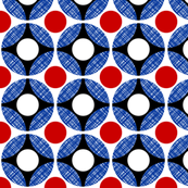 UK Mod Circular red, and blue diagonal by Su_G