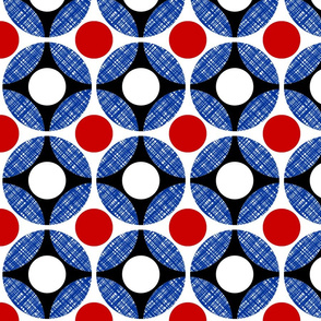 UK Mod Circular red, + blue diagonal  (limited palette) by Su_G
