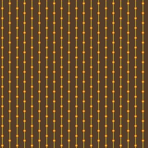 stripes with dots brown yellow an orange
