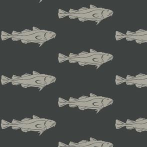 Cod XL grey on dark slate-2015