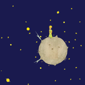 Asteroid B-612 blue