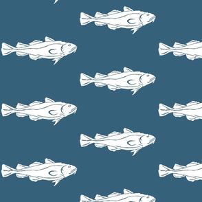 Cod XL white on denim- 2015