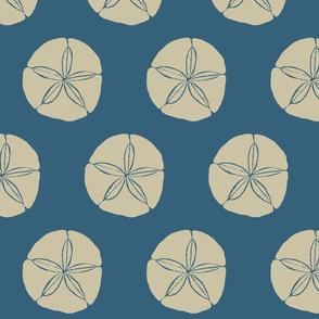 Sand Dollar XL khaki on denim- 2015