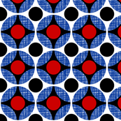 UK Mod Circular red and black, blue net weave by Su_G