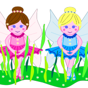 FLOWER FAIRIES in the garden