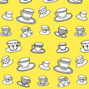 yellow teacups