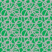 Green Rope Pattern Repeat Small