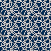 Navy Rope Pattern Repeat Small