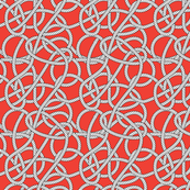 Red Rope Pattern Repeat Small