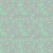 Mint Rope Pattern Repeat Small
