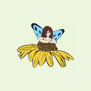 Large Fairy in a Flower