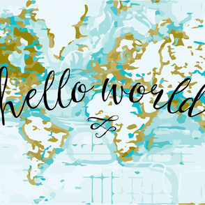 Hello World Organic Swaddle Mustard