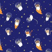 Space cats small fabric pigandpumpkin spoonflower for Space cat fabric