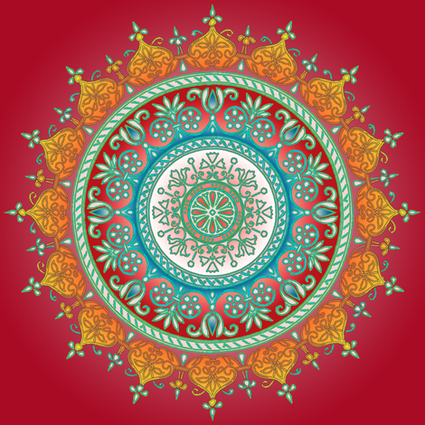 dutch medallion radiant red
