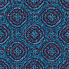 Blue Medallion, Mottled
