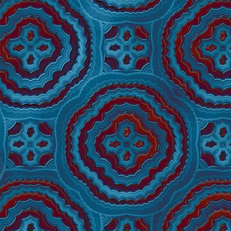 Blue Medallion Batik, Large
