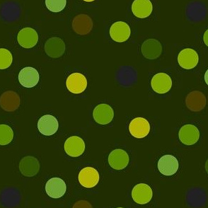 Forest polka dots
