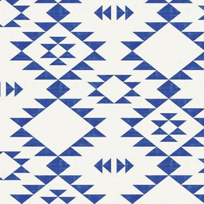 Navajo -Texture Blue Off White
