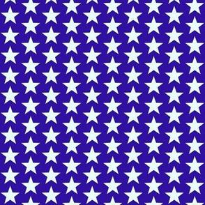 White & Blue Stars