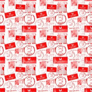 Via Airmail (red)