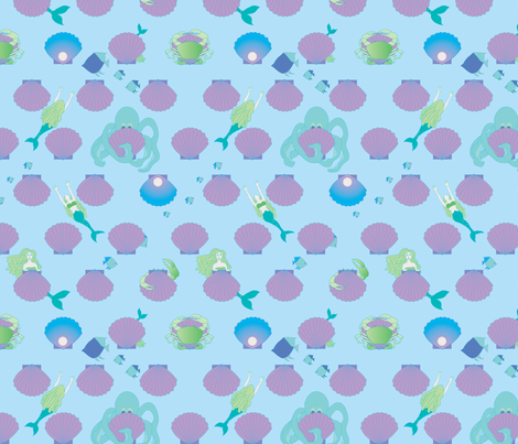 MERMAIDS-HIDE-AND-SEEK-BIG-PEARL-spoonflower-contest-May-19_2015-copy