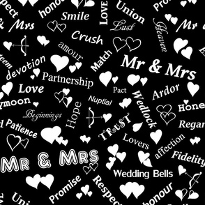 Mr_and_Mrs_and_words_of_love_White_on_Black