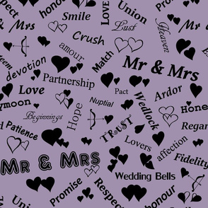 Mr_and_Mrs_and_words_of_love_Black_on_Mauve_A090AE