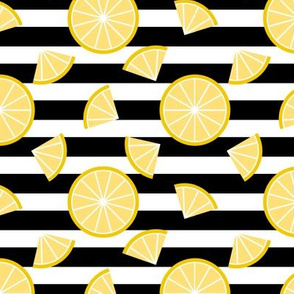 Lemons on Stripes (Horizontal)