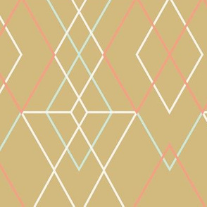 Geometric Grid - gold