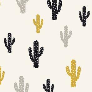 Gold Black Cactus