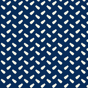 Milk Bottle Polka navy