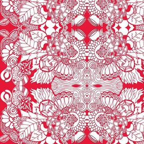Goddess Doodles-red