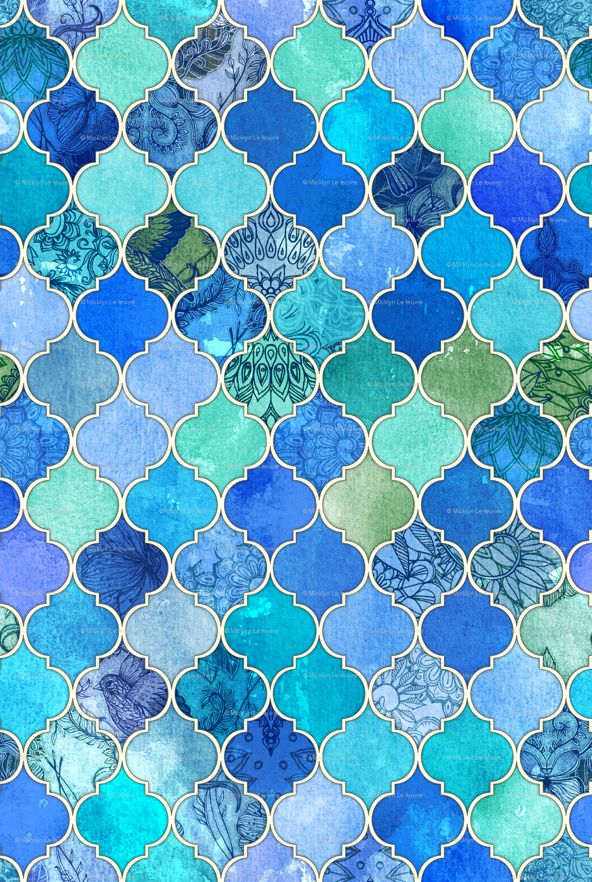 gallery for moroccan tile wallpaper
