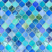 Cobalt Blue and Aqua Decorative Moroccan Tiles
